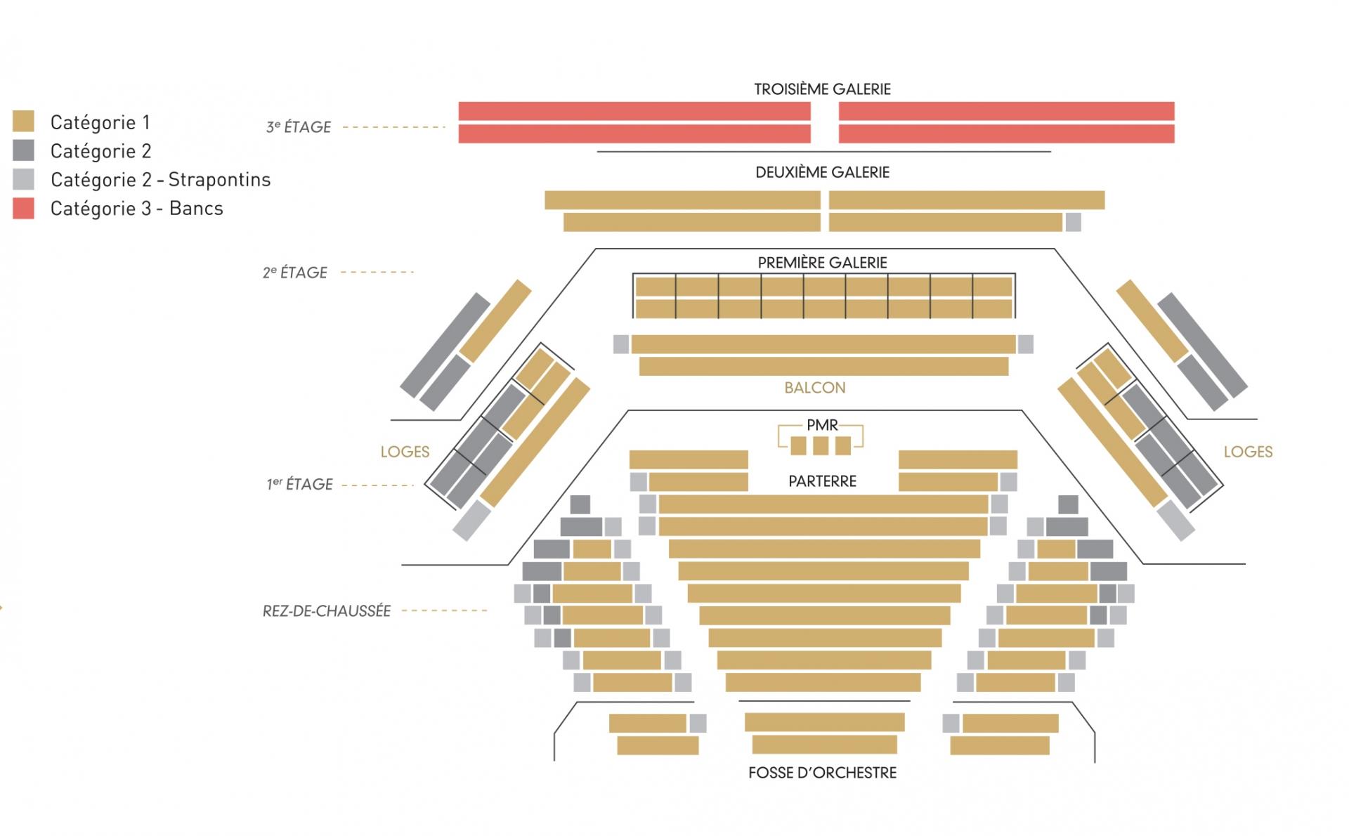 Plan de la grande salle
